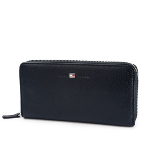 TOMMY HILFIGER AW0AW03067001 BASIC LEATHER LARGE ZIA WALLET PORTFEL DAMSKI GRANATOWY