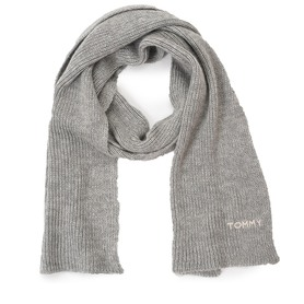 TOMMY HILFIGER AWOAWO5927 050 EFFORTLESS KNIT SCARF SZAL DAMSKI SZARY