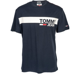 TOMMY HILFIGER DM0DM06089 002 TJM ESSENTIAL BOX LOGO TEE REGULAR FIT T-SHIRT MĘSKI GRANATOWY