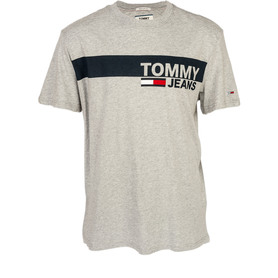 TOMMY HILFIGER DM0DM06089 038 TJM ESSENTIAL BOX LOGO TEE REGULAR FIT T-SHIRT MĘSKI SZARY