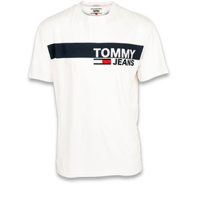 TOMMY HILFIGER DM0DM06089 100 TJM ESSENTIAL BOX LOGO TEE REGULAR FIT T-SHIRT MĘSKI BIAŁY
