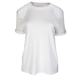 MICHAEL KORS MS65L074AG WHITE T-SHIRT DAMSKI