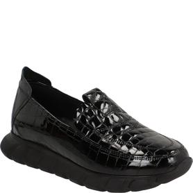 VENEZIA 0229 501 BLACK SNEAKERSY DAMSKIE LAKIEROWANE CZARNE